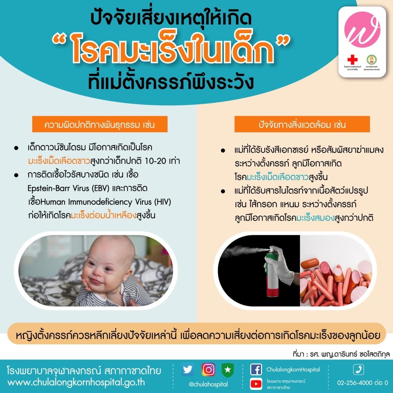"""ปัจจัยเสี่ยงเหตุให้เกิด """"โรคมะเร็งในเด็ก"""" ที่แม่ตั้งครรภ์พึงระวัง"""