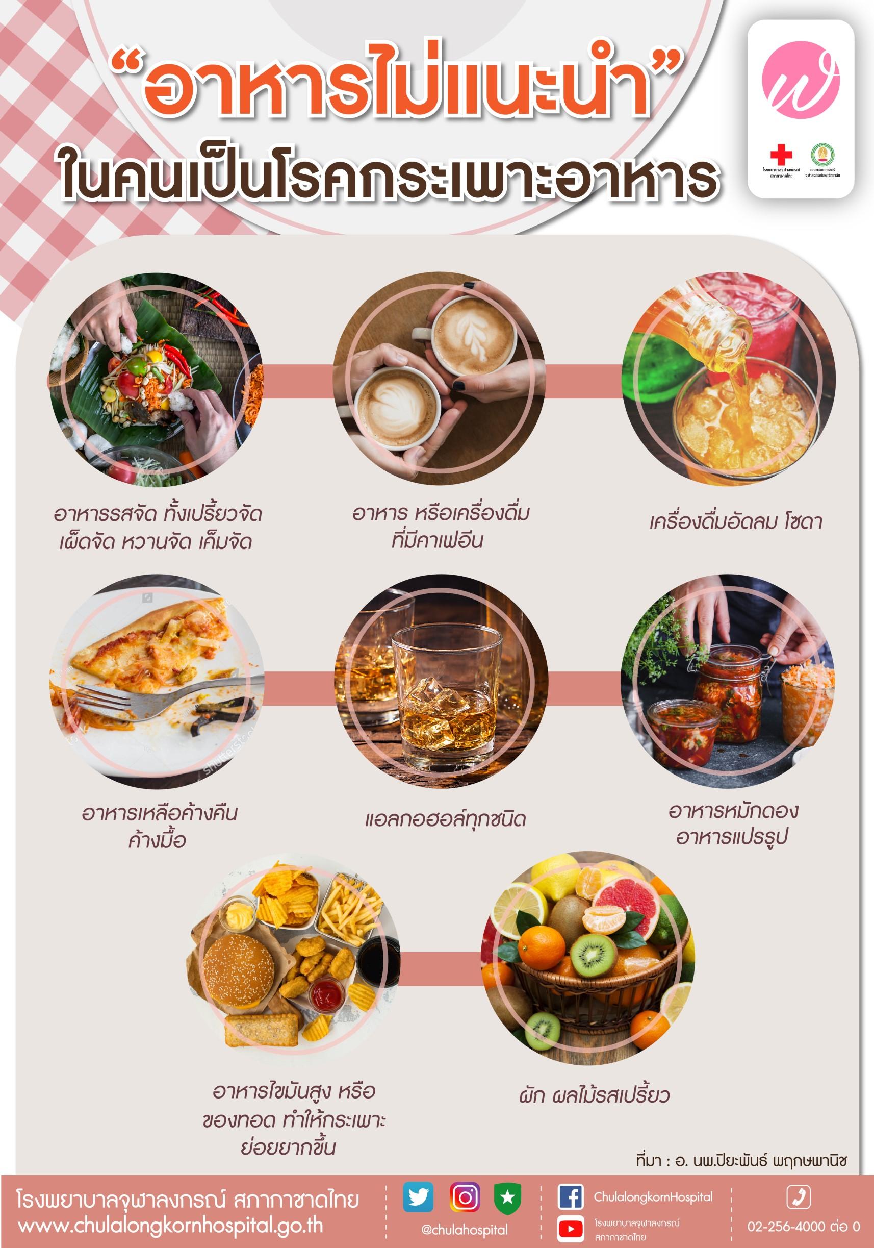 """""""อาหารไม่แนะนำ"""" ในคนเป็นโรคกระเพาะอาหาร"""