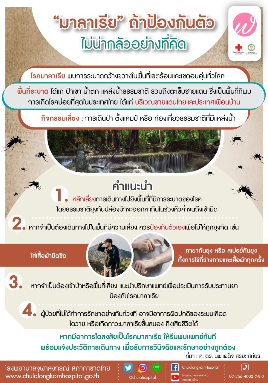 มาลาเรียถ้าป้องกันตัว ไม่น่ากลัวอย่างที่คิด