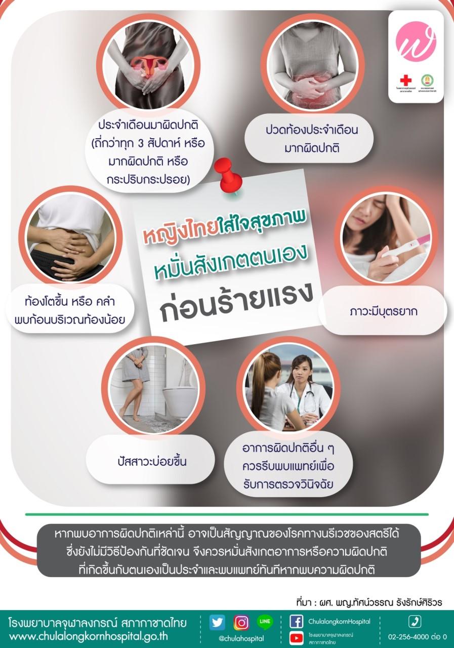 หญิงไทยใส่ใจสุขภาพ หั่นสังเกตตนเอง ก่อนร้ายแรง
