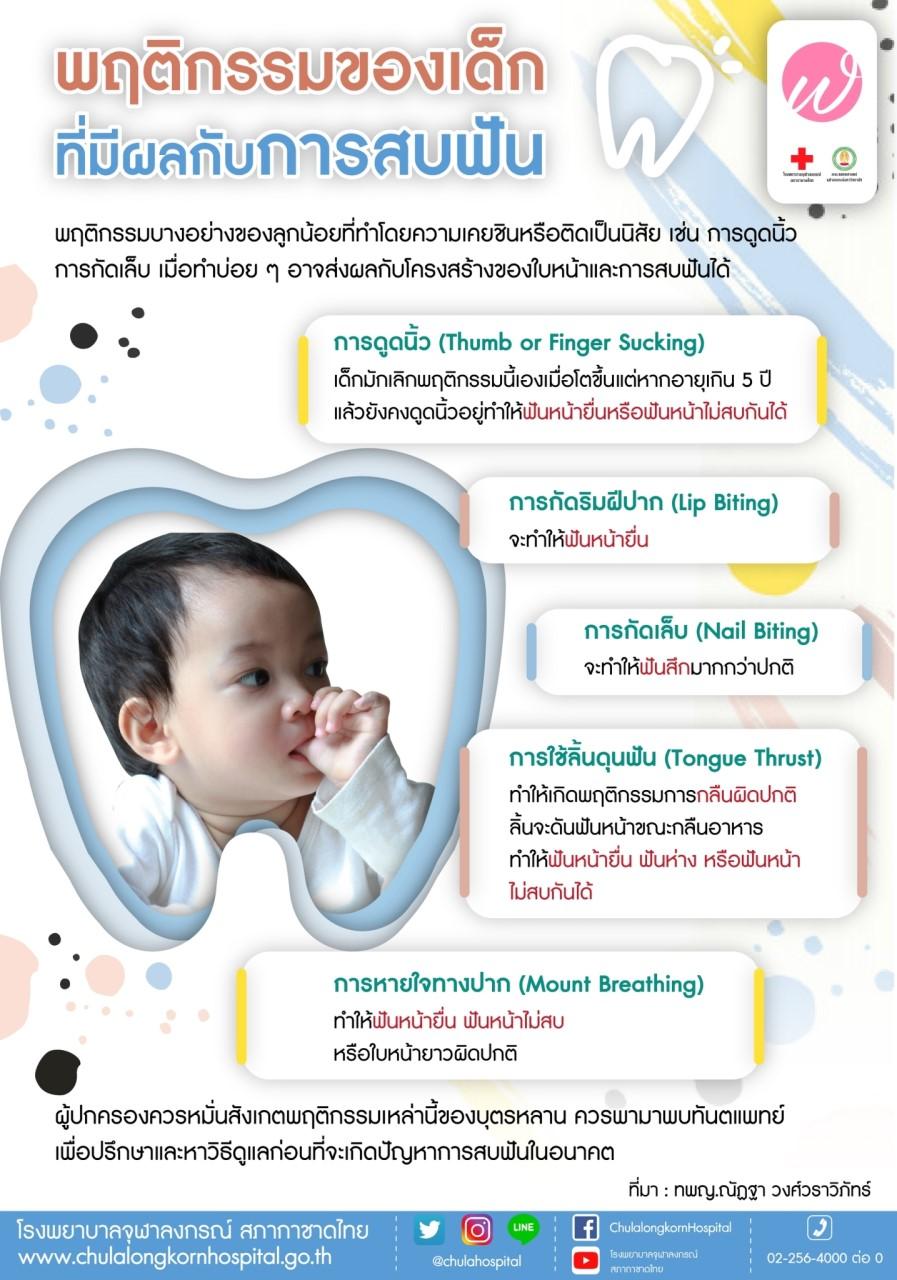 พฤติกรรมของเด็กที่มีผลกับการสบฟัน