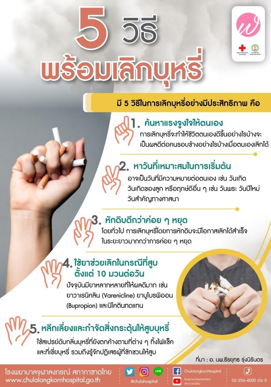 5 วิธี พร้อมเลิกบุหรี่