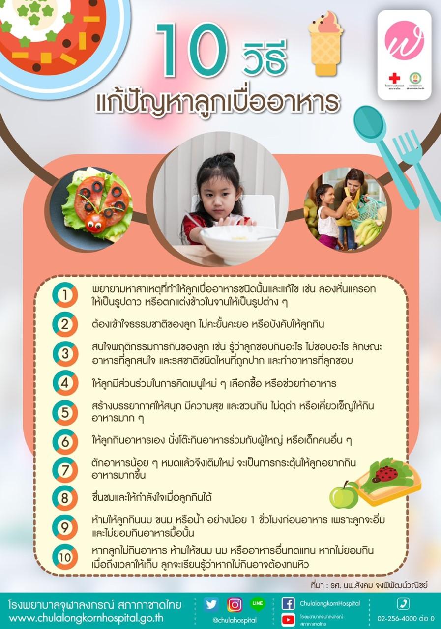 10 วิธีแก้ปัญหาลูกเบื่ออาหาร