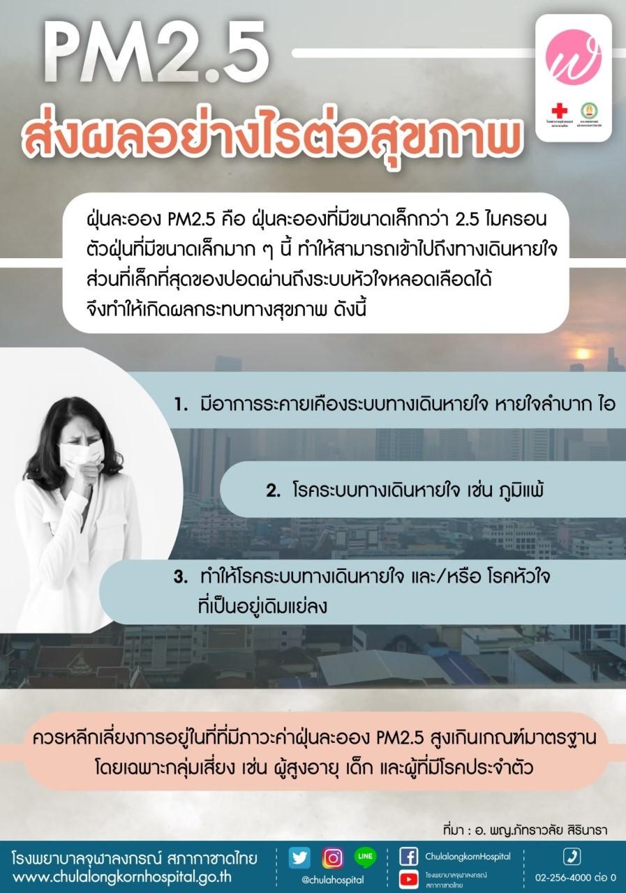 PM 2.5 ส่งผลอย่างไรต่อสุขภาพ