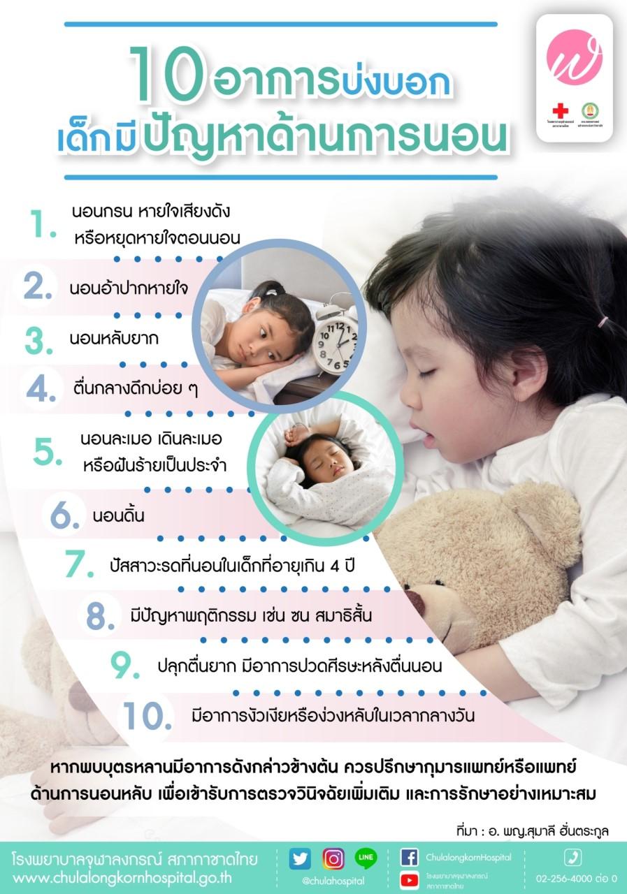 10 อาการบ่งบอก10 อาการบ่งบอกเด็กมีปัญหาด้านการนอน