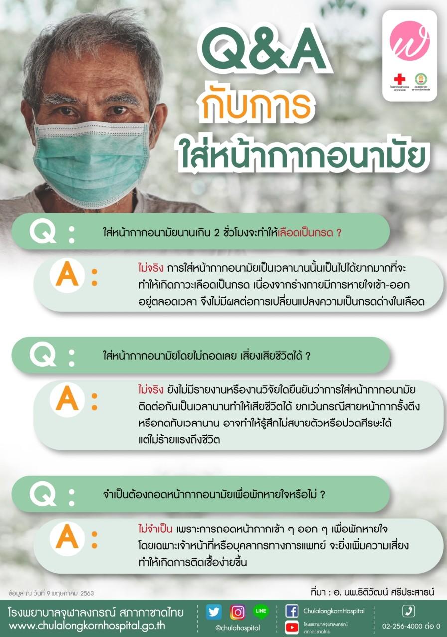 Q&A กับการใส่หน้างานอนามัย