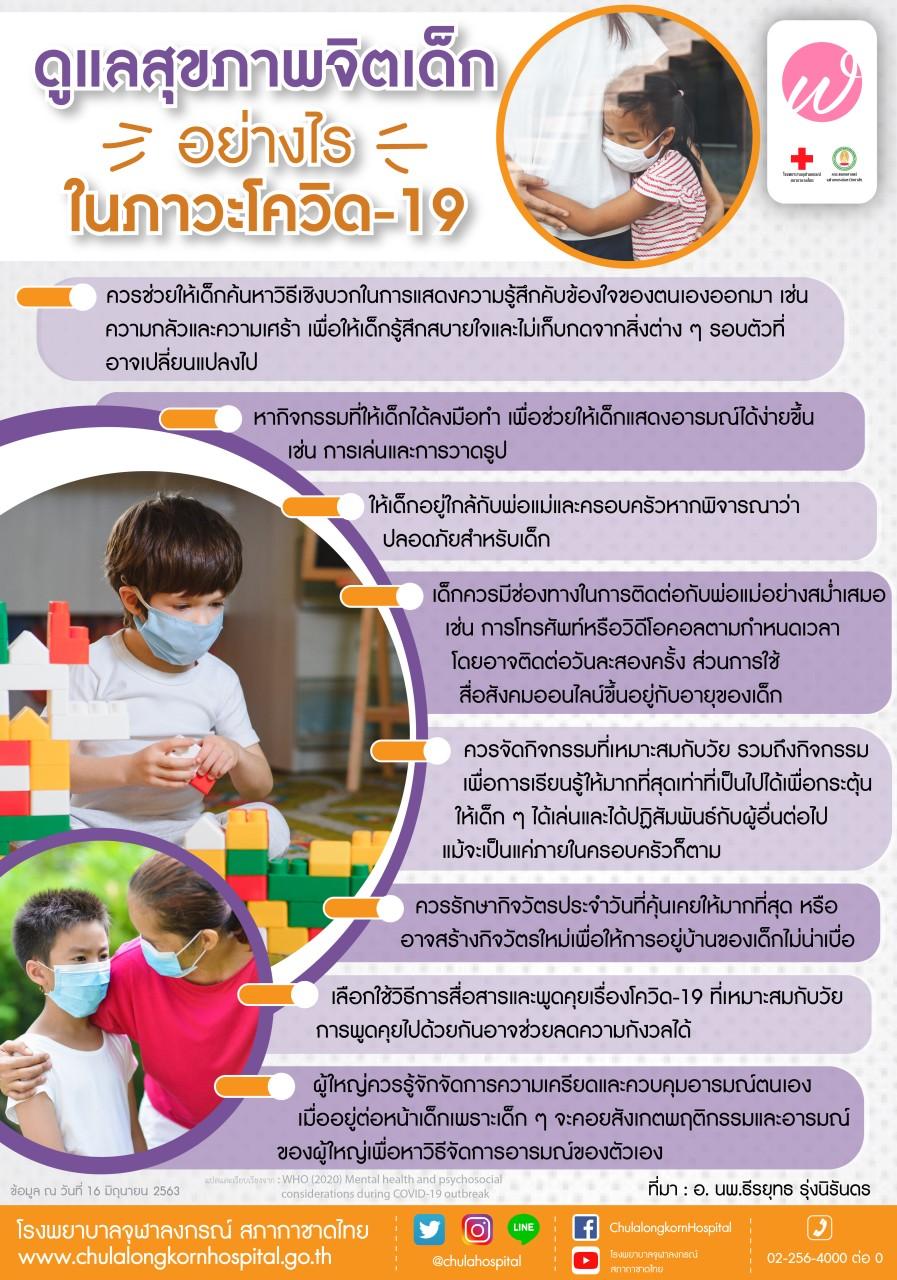 ดูแลสุขภาพจิตเด็กอย่างไรในภาวะโควิด-19