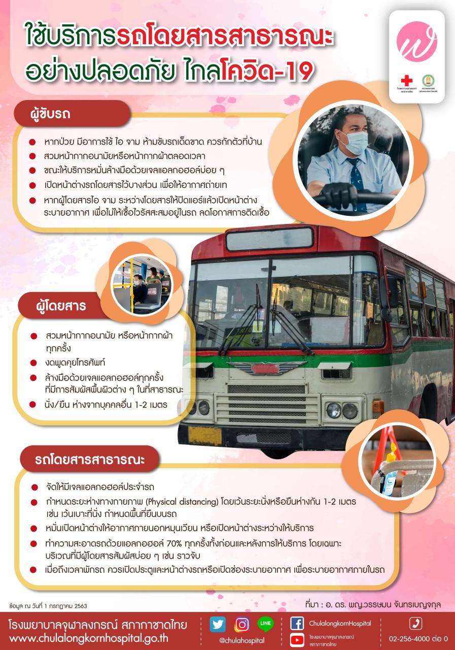 ใช้บริการรถโดยสารสาธารณะอย่างปลอดภัย ไกลโควิด-19