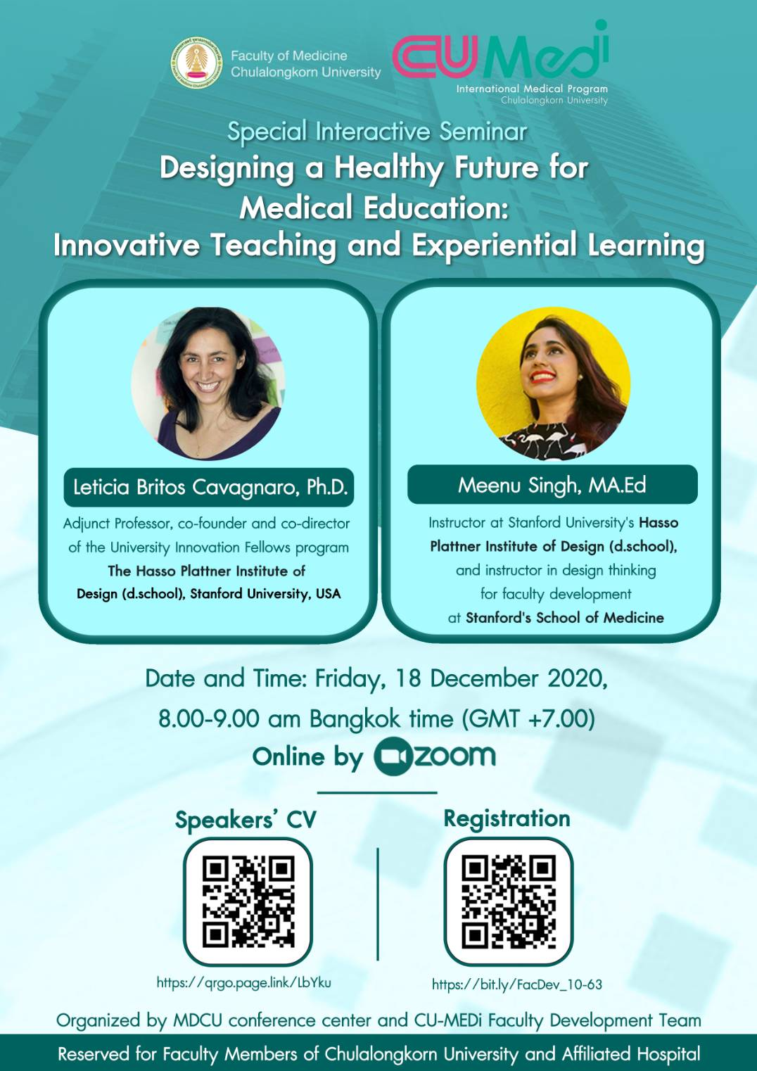 Designing a Healthy Future for Medical Education: Innovative Teaching and Experiential Learning