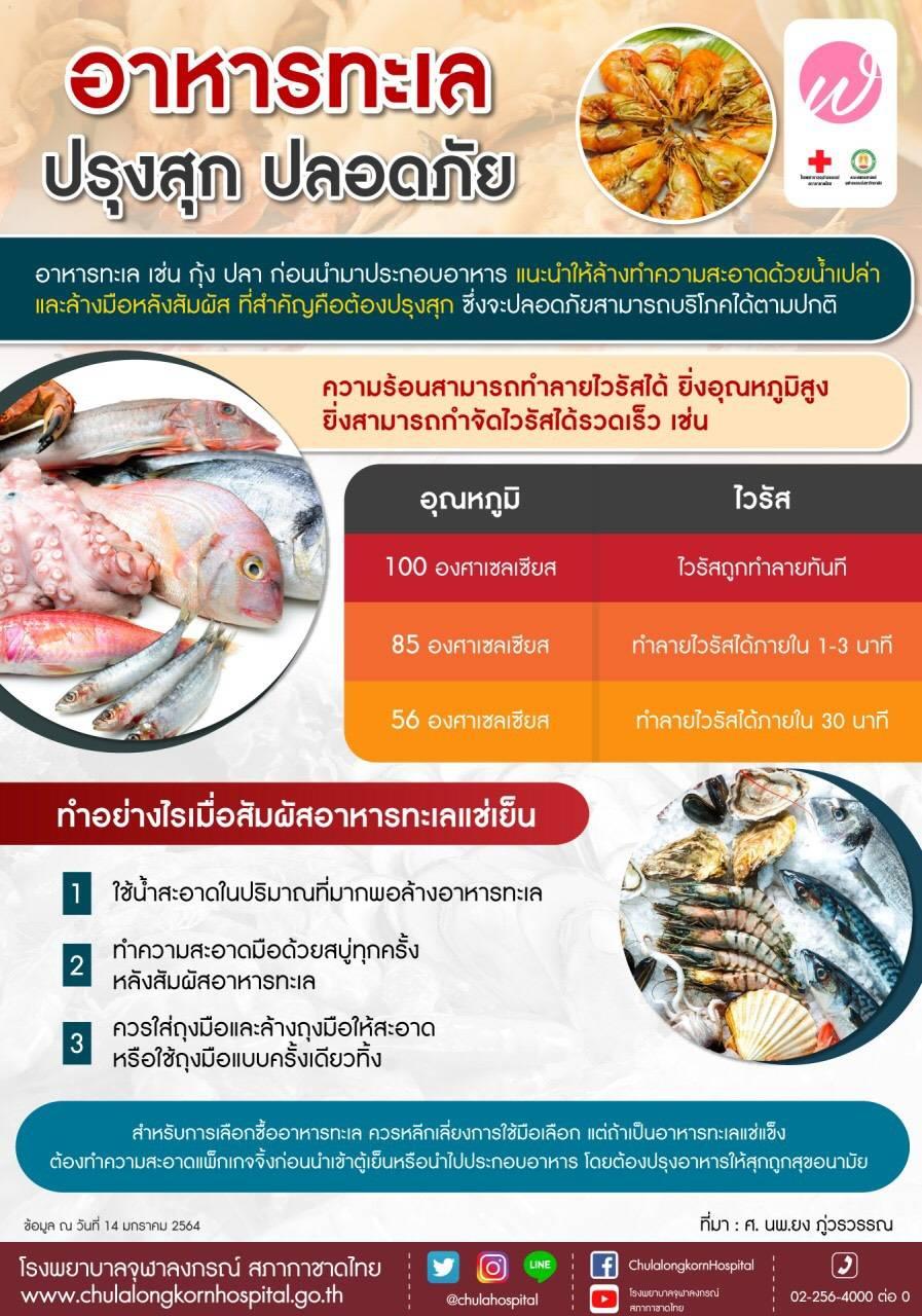 อาหารทะเลปรุงสุกปลอดภัย