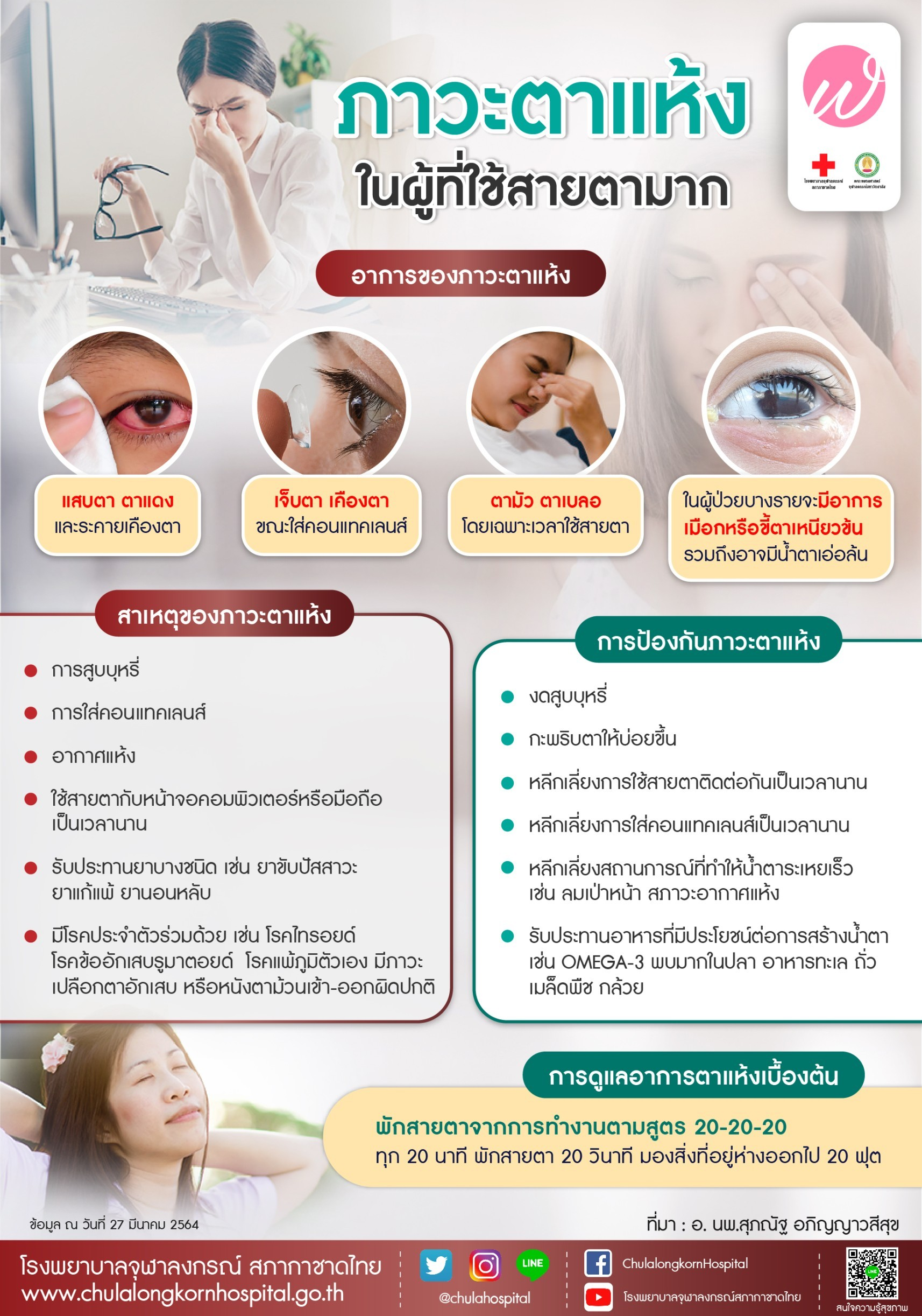 ภาวะตาแห้งในผู้ที่ใช้สายตามาก