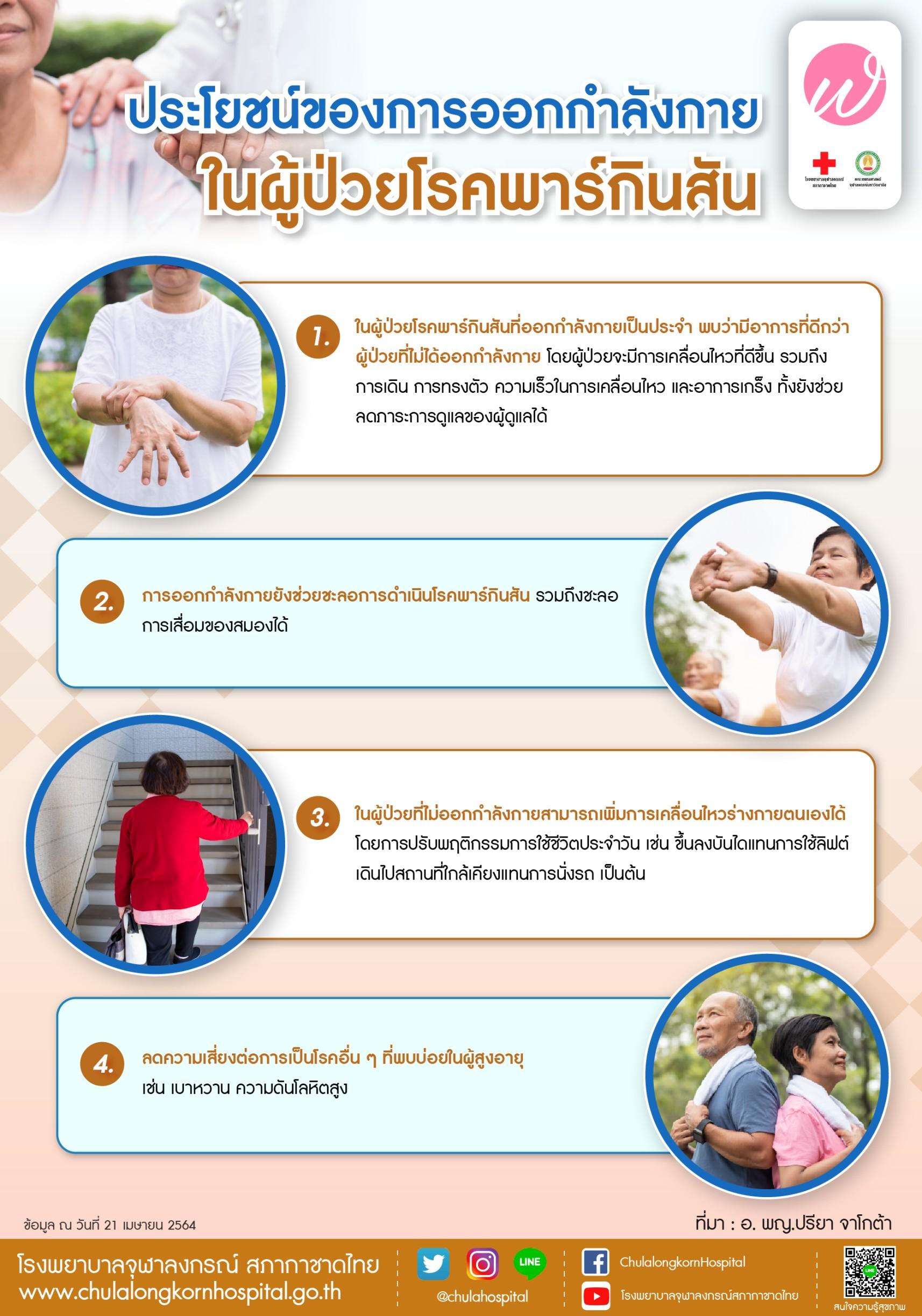 ประโยชน์ของการออกกำลังกายในผู้ป่วยโรคพาร์กินสัน