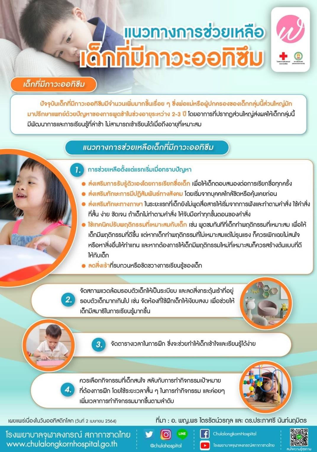 แนวทางการช่วยเหลือเด็กที่มีภาวะออทิซึม