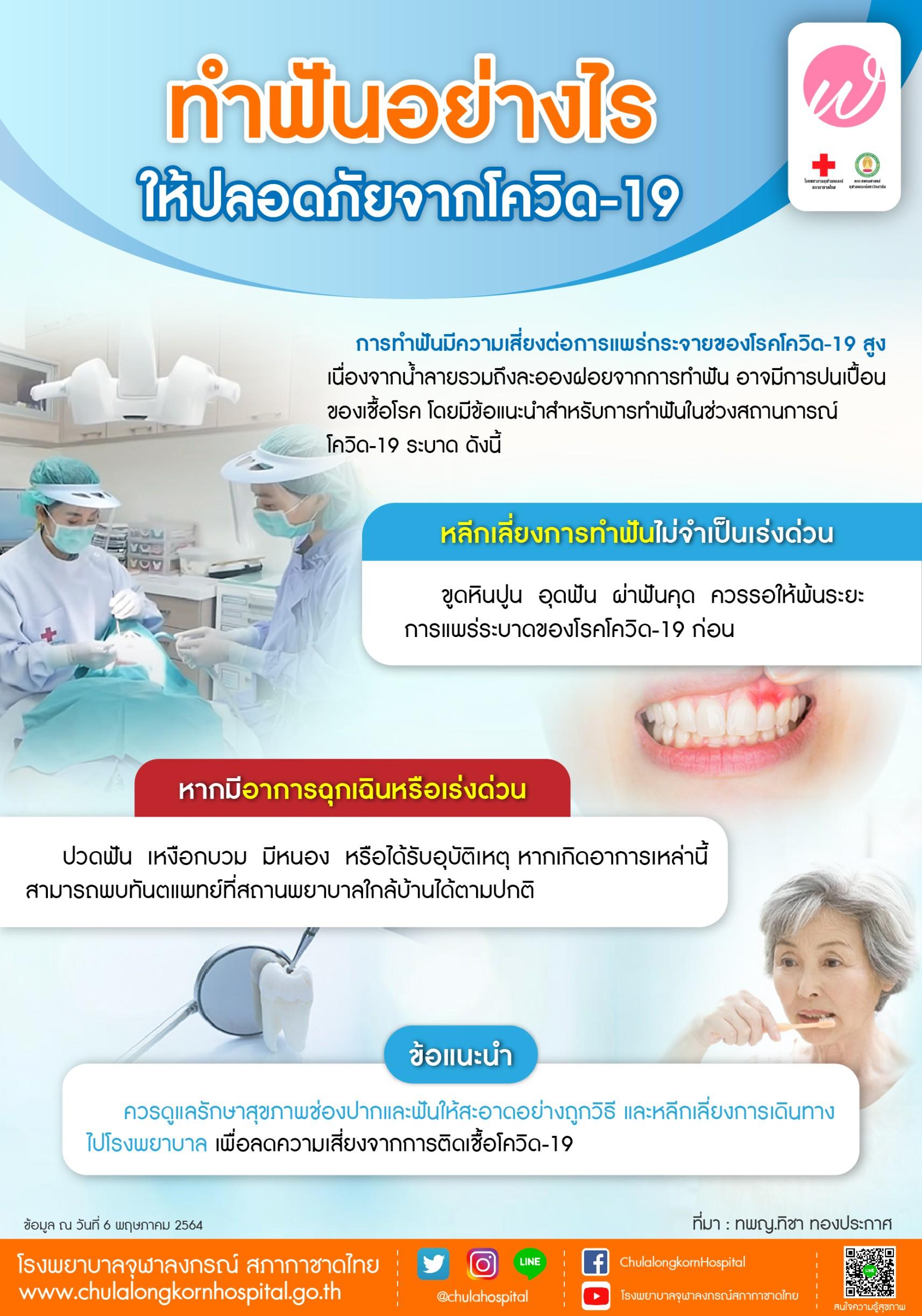 ทำฟันอย่างไรให้ปลอดภัยจากโควิด-19