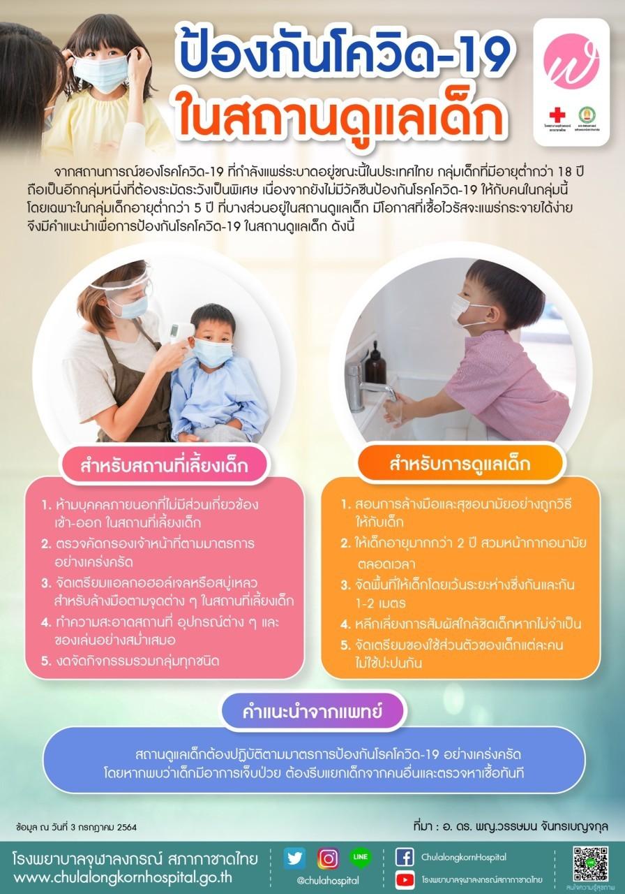 ป้องกันโควิด-19 ในสถานดูแลเด็ก