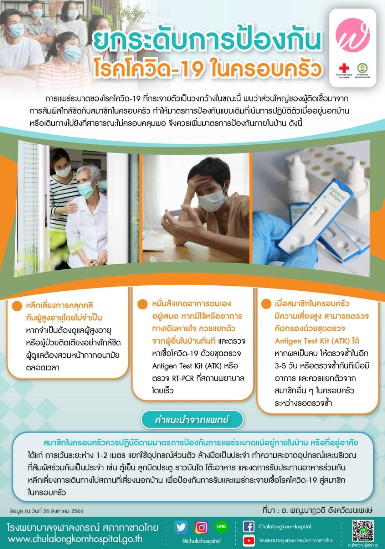 ยกระดับการป้องกันโรคโควิด-19 ในครอบครัว