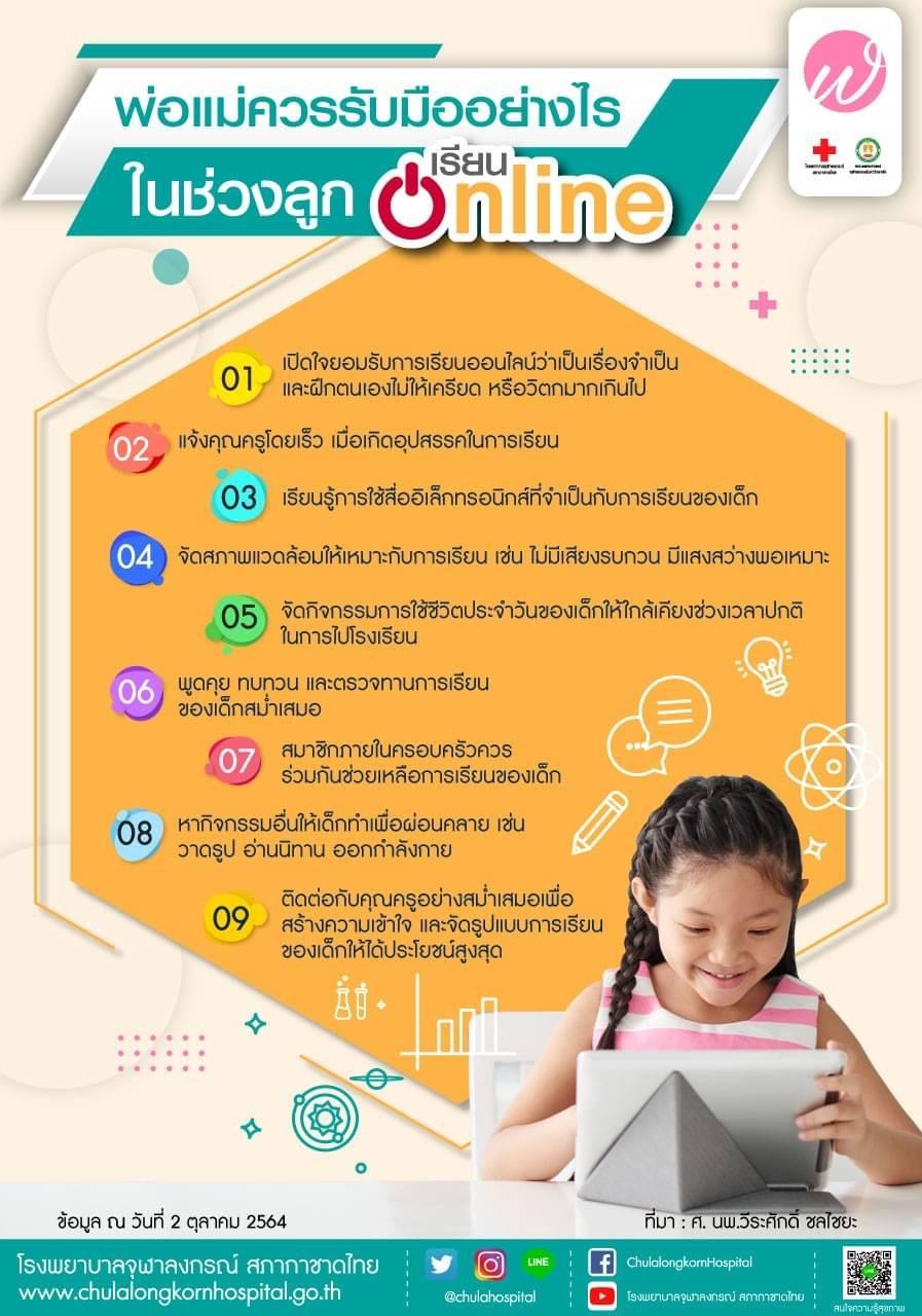พ่อแม่ควรรับมืออย่างไรในช่วงลูกเรียน Online