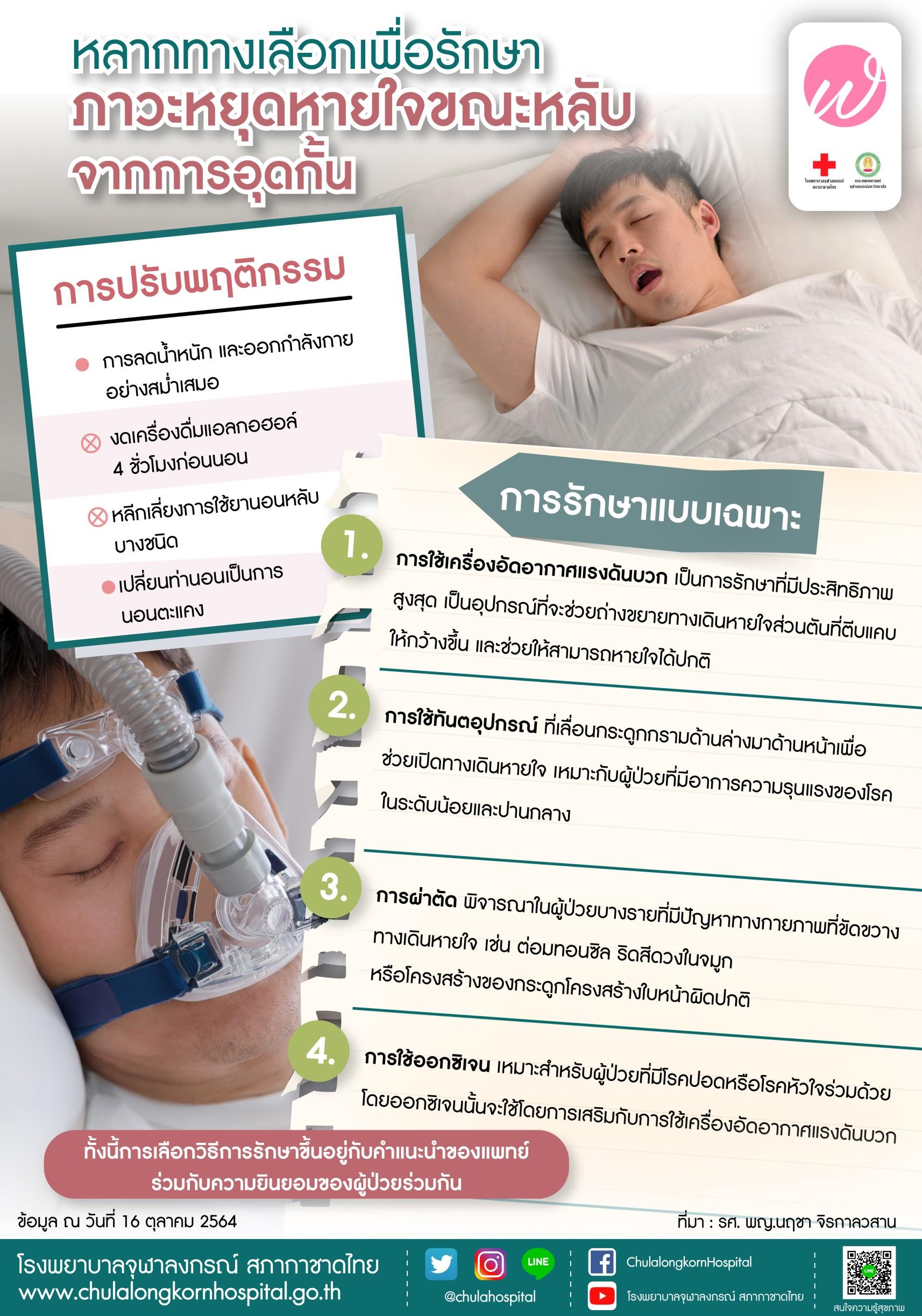 หลากทางเลือกเพื่อรักษาภาวะหยุดหายใจขณะหลับจากการอุดกั้น